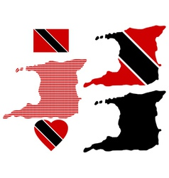 Map of the Republic of Trinidad and Tobago vector image vector image