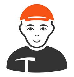 miner flat icon vector image