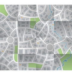 paper city map vector image