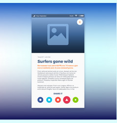 reporting news ui app design vector image vector image