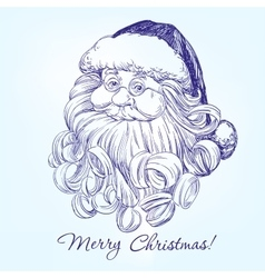 Santa claus hand drawn llustration vector