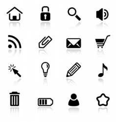 simple web icons vector image