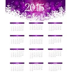 2015 New Year Calendar vector