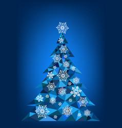 Abstract polygonal christmas tree vector