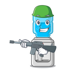army cartoon water cooler for office and home vector image