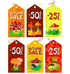 Autumn tags set vector