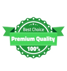 Best choose premium quality badge vector image