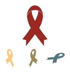 Black awareness ribbon set Isometric effect vector image