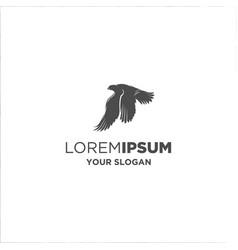 black falcon silhouette logo vector image