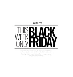 black friday newspaper style promotion banner vector image