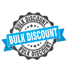 Bulk discount stamp sign seal vector