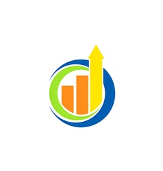 business finance chart arrow logo vector image