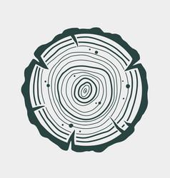 Carpenter wood rings timber lumber logger logo vector