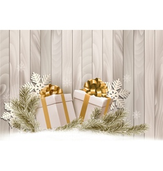 Christmas holiday background with gift ribbon with vector
