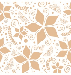cream natural pattern vector image vector image