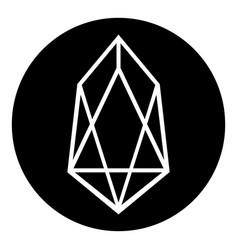 Crypto coin eos icon on white vector
