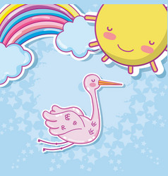 Cute baby cartoons vector