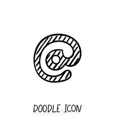 Doodle E-Mail Symbol Hand Drawn Design vector image