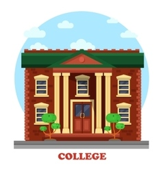 Facade of national college corpus for education vector