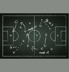 Football field with tactic lines vector