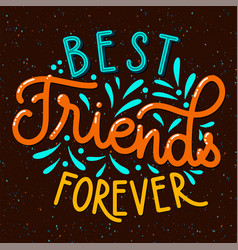 Friendship day hand drawn lettering vector