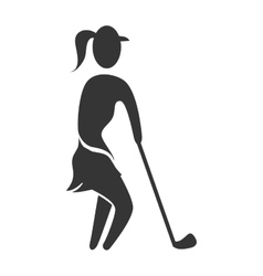 Golf sport theme design vector