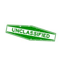 grunge green unclassified word hexagon rubber vector image