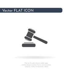 hammer icon for web business finance and vector image