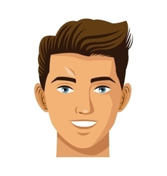head man smile avatar virtual reality icon vector image