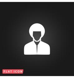 hippi man icon vector image