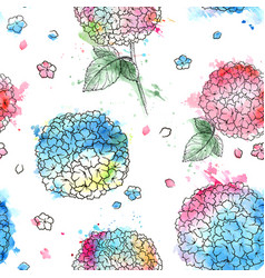 hortensia seamless pattern vector image