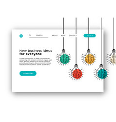 internet business web app landing page template vector image