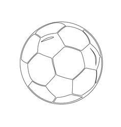 Isolated soccer ball vector
