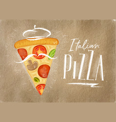 italian pizza slice craft vector image