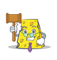 Judge cheese character cartoon style vector