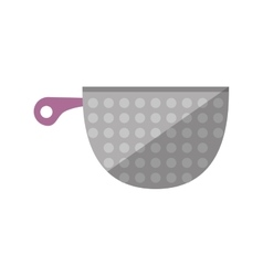 Kitchen cookware pot tool shadow vector