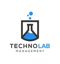 Laboratory glassware technology science modern vector
