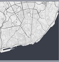 Map lisboa street map art poster vector