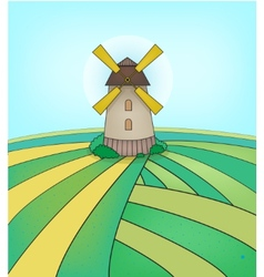 mill on field vector image