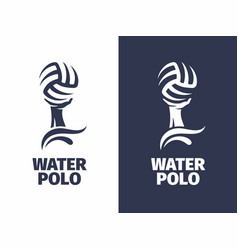 Modern professional sign logo water polo vector