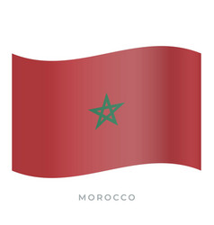 Morocco waving flag icon vector