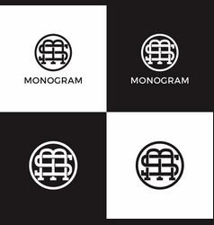 ms logo graphic monogram typhograpy vector image