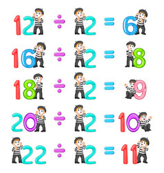 Number distribution from 6 until 11 vector