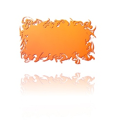 orange gradient twisted label vector image