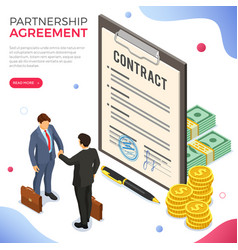 partnership handshake business mans b2b vector image