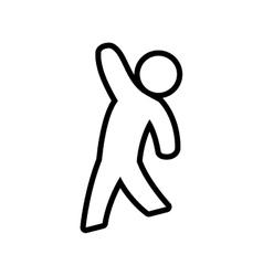 Pictogram icon Male person design graphic vector image