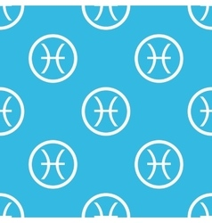 Pisces sign blue pattern vector image