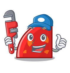 plumber quadrant mascot cartoon style vector image