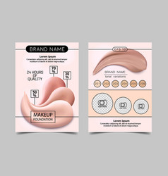 Ready design template for makeup artist vector