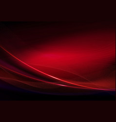 Red dark background with smooth thin lines and a vector